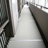 共用廊下の塩ビシート